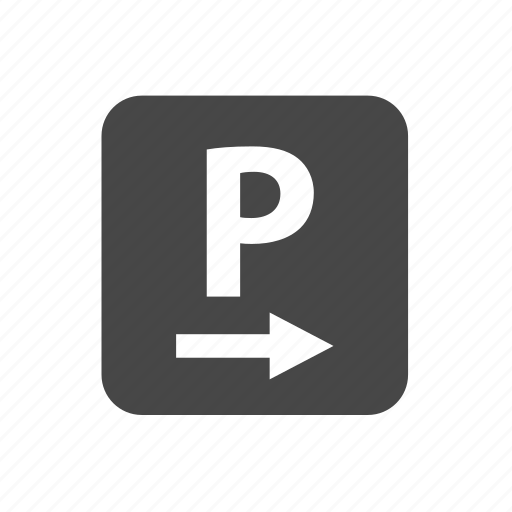 arrow, parking, parking sign, road, sign icon