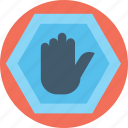 do not touch, hand stop sign, hand symbol stop, no entry hand sign, no entry sign icon