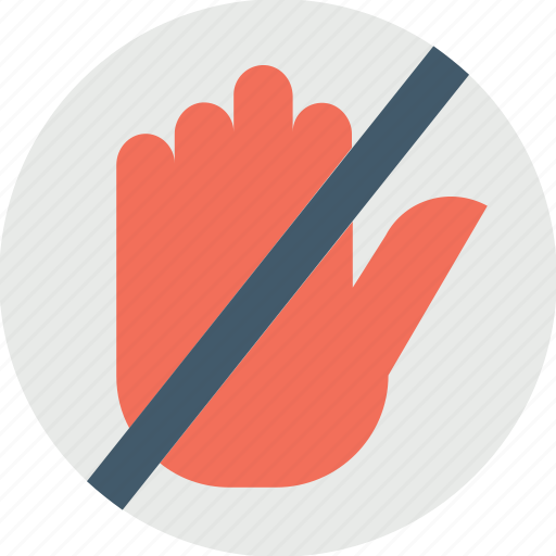 do not touch, hand symbol stop, no entry hand sign, no entry sign, no hand sign icon