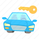 auto, automotive, blue car, cartoon, transport, vehicle icon