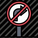 circulation, right, sign, signaling, signs, traffic, turn icon