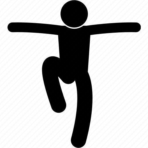 athlete, balance, jumping, leg, parkour, single, standing icon