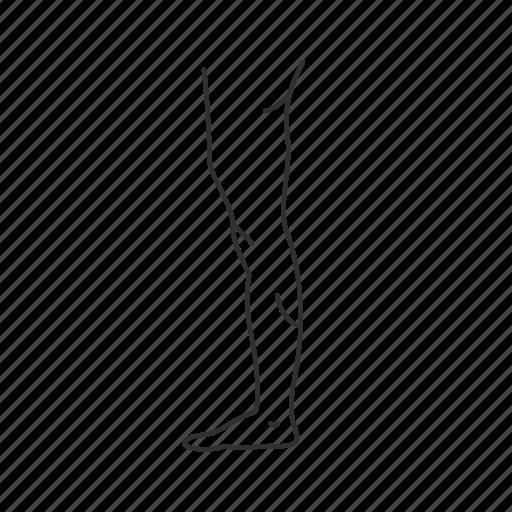 human leg, leg, male leg, side of leg, standing icon