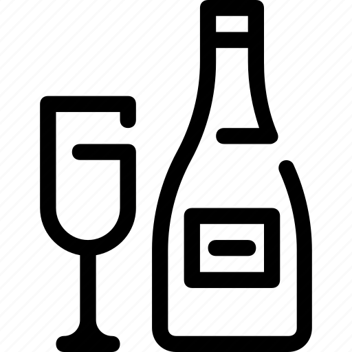 alcohol, bar, bottle, celebration, champagne, new year, party icon
