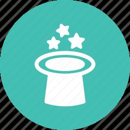 hat, magic, stars, wizard icon