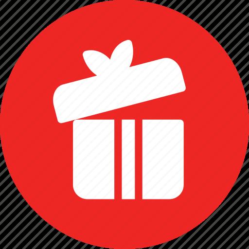 box, gift, open, party icon