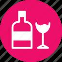 bottle, cup, vodka, wine icon
