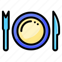 eating, food, plate, restaurants, tool icon