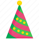 birthday, celebration, event, hat, holiday, party icon