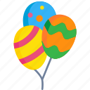 air, balloons, birthday, celebration, decoration, holiday, party icon
