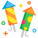celebration, colorful, festival, firework, holiday, light, rocket icon