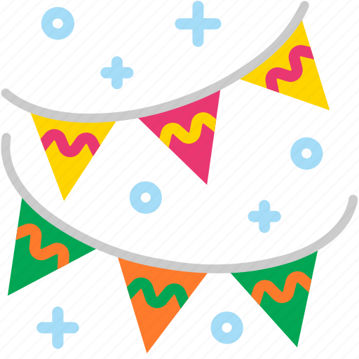 banner, celebration, decoration, event, flag, party icon