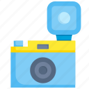 camera, capture, equipment, flash, lens, photography, shutter icon