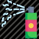 bubble, celebration, flow, foam, liquid, party, spray icon