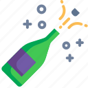 alcohol, celebration, champagne, drink, party, sparkling, wine icon