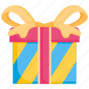 birthday, box, celebration, gift, present, ribbon, surprise icon