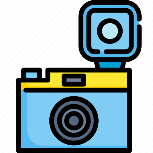 Camera, capture, equipment, flash, lens, photography, shutter icon - Download on Iconfinder