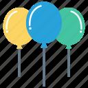 air, balloon, celebration, decoration, party icon