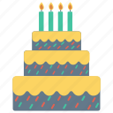 bakery, birthday, cake, dessert, sweet icon