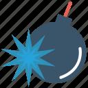 bomb, celebration, danger, explosion, spark icon