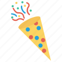 celebration, confetti, ornament, party, popper icon