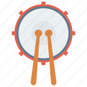 celebration, drum, instrument, music, party icon
