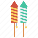 celebration, fireworks, party, petard, rocket icon