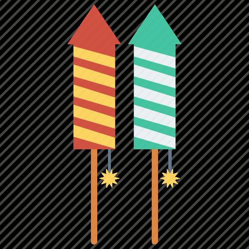 celebration, fireworks, party, petard, rocket icon