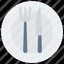 food, fork, hotel, knife, restaurant