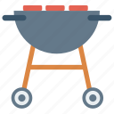 dish, eat, food, meat, trolley icon