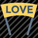 banner, celebration, love, romance, sign icon