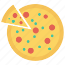 food, meat, pizza, slice, snack icon