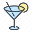 alcohol, drink, glass, martiny icon
