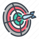 dart, darts, hit, party, target icon