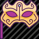 festival, carnival mask, party mask, party, mardi gras, costume, masquerade mask icon