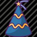 party, celebration, festival, party cap, party hat, hat, decoration icon