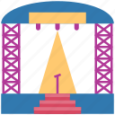 platform, festival, stage, party, perform, tribune, lights icon
