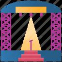 lights, tribune, stage, festival, party, platform, perform icon