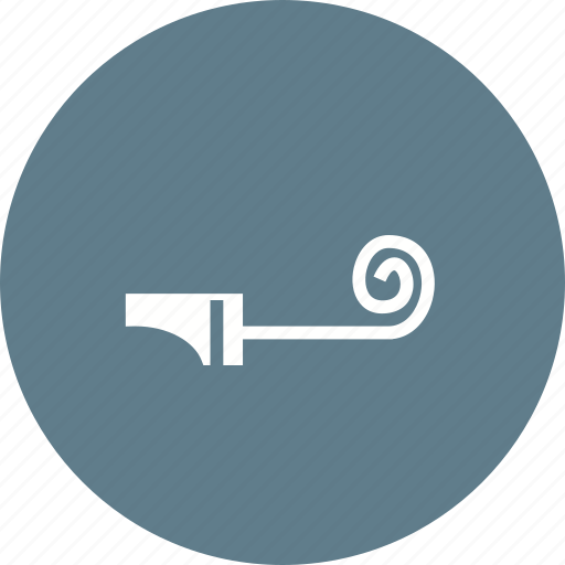 birthday, blower, fun, horn, noisemaker, party, whistle icon