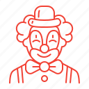 birthday, clown, kids, party icon