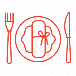 cafe, catering, plate, restaurant icon