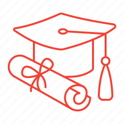 diploma, graduation, high, school icon
