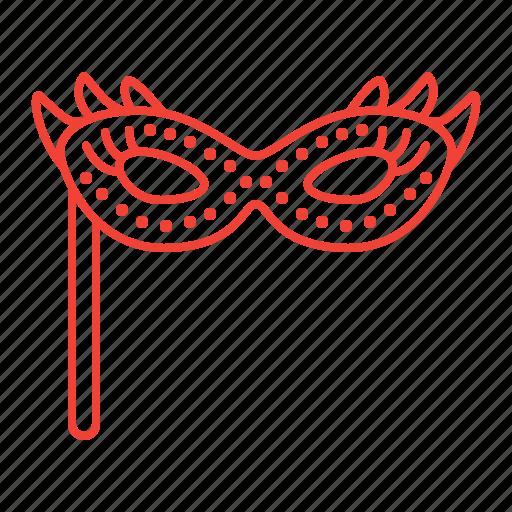 carnival, mask, masquerade, party, private icon