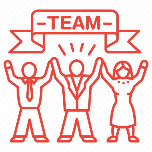 building, corporate, party, team icon