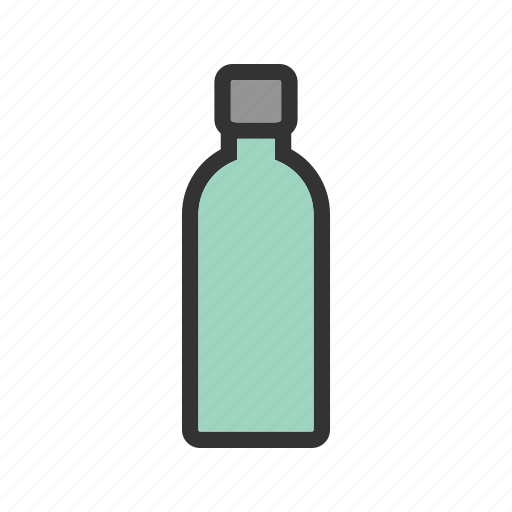 Bottle, drink, health, mineral, plastic, water, white icon - Download on Iconfinder