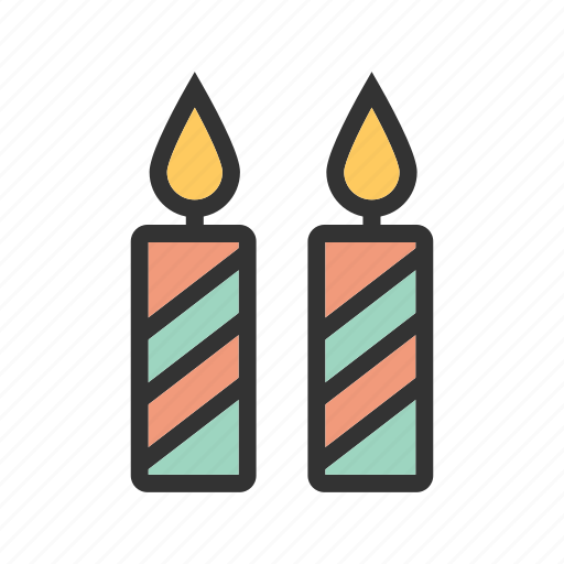 Cake, candle, candles, day, dinner, red, valentine icon - Download on Iconfinder
