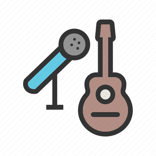 guitar, metal, mic, microphone, music, studio, wood icon