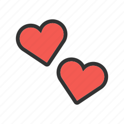 day, heart, love, red, shape, summer, valentine icon