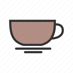 coffee, cup, drink, mug, saucer, tea, utensils icon