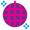ball, disco, event, music, new, party, year icon